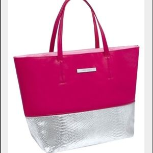 Vince Camuto Pink and Silver large tote